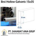 Besi Hollow Galvanis 15x35