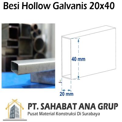 Besi Hollow Galvanis 20x40