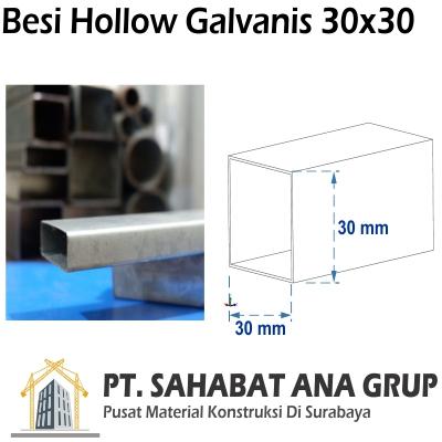 Besi Hollow Galvanis 30x30