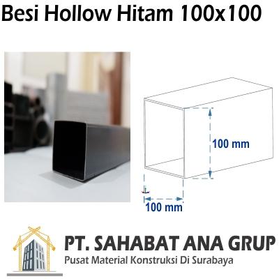 Besi Hollow Hitam 100x100