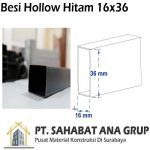 Besi Hollow Hitam 16x36