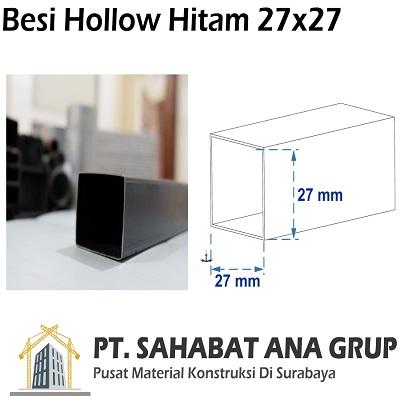 Besi Hollow Hitam 27x27