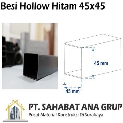 Besi Hollow Hitam 45x45