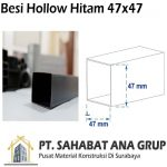 Besi Hollow Hitam 47x47
