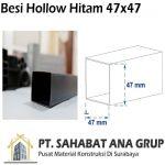 Besi Hollow Hitam 47x47