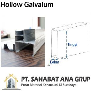 Besi Hollow Galvalum