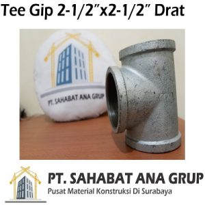 Tee Gip 2-12x2-12 Inch Drat
